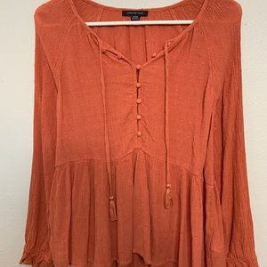 american eagle blouse size small